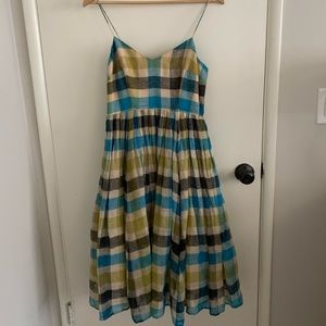 Anthropologie A-lone plaid party dress